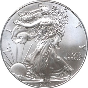 2011 EAGLE S$1 MS obverse