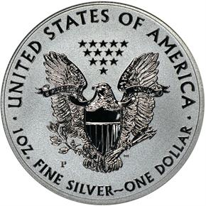 2011 P EAGLE REVERSE PF 25TH ANNIVERSARY SET S$1 PF reverse