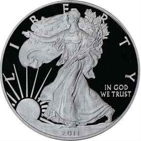 2011 W EAGLE S$1 PF obverse