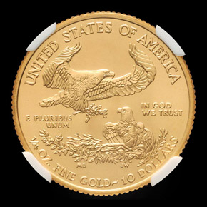 2010 EAGLE G$10 MS reverse