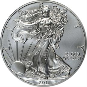 2011 EAGLE 25TH ANNIVERSARY SET S$1 MS obverse