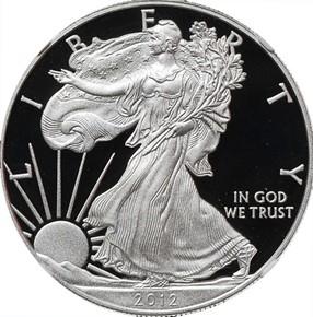 2012 W EAGLE S$1 PF obverse