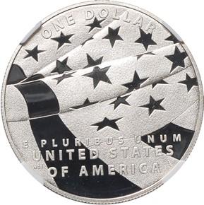2012 P STAR SPANGLED BANNER S$1 PF reverse