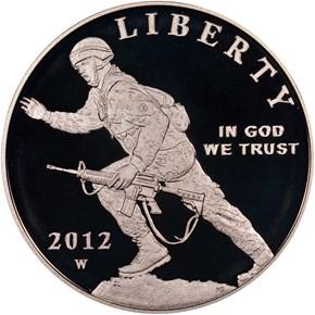 2012 W INFANTRY S$1 PF obverse