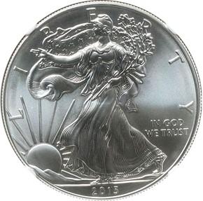 2013 EAGLE S$1 MS obverse