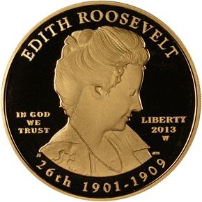 2013 W EDITH ROOSEVELT G$10 PF obverse