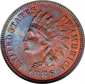 1886 1C MS obverse