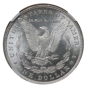 1879 S$1 MS reverse
