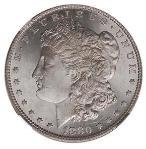 1880 O S$1 MS obverse