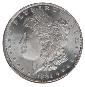 1881 O S$1 MS obverse
