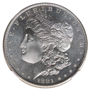 1881 S S$1 MS obverse