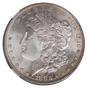 1883 S S$1 MS obverse