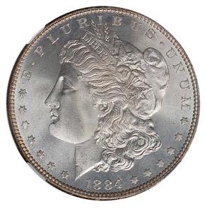 1884 S$1 MS obverse