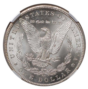 1885 CC S$1 MS reverse