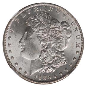 1886 O S$1 MS obverse