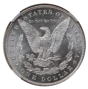 1887/6 TOP-100 VAM-2 S$1 MS reverse