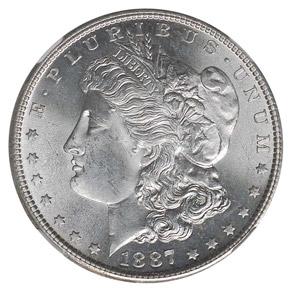 1887 S S$1 MS obverse