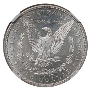 1887 S S$1 MS reverse
