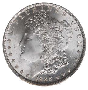 1888 S$1 MS obverse