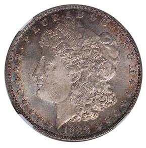 1888 O S$1 MS obverse