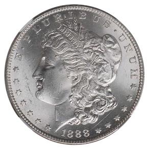 1888 S S$1 MS obverse