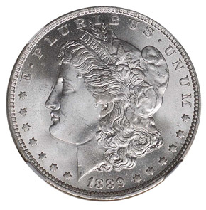 1889 O S$1 MS obverse