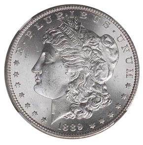 1889 S S$1 MS obverse