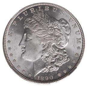 1890 S$1 MS obverse
