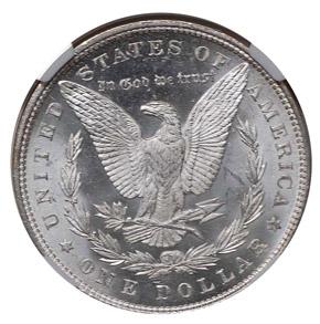 1891 S$1 MS reverse