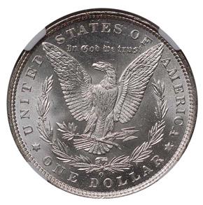 1891 O S$1 MS reverse