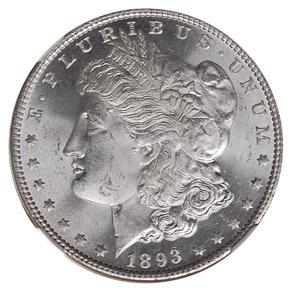 1893 S$1 MS obverse