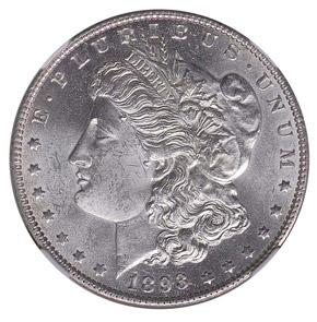 1893 O S$1 MS obverse