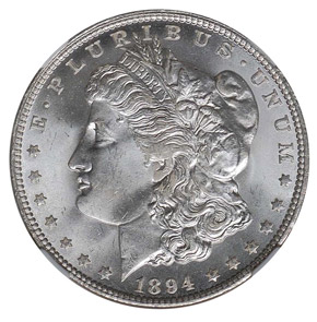 1894 O S$1 MS obverse