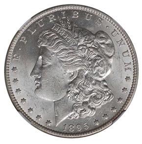 1895 O S$1 MS obverse