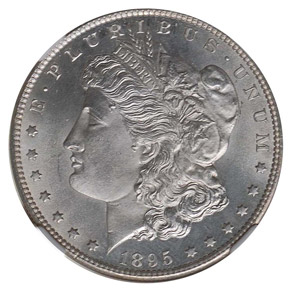 1895 S S$1 MS obverse