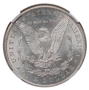 1895 S S$1 MS reverse