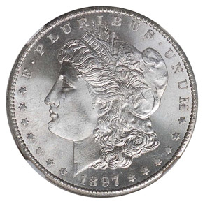 1897 S S$1 MS obverse