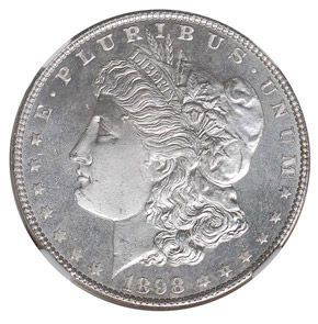 1898 S$1 MS obverse