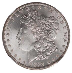 1898 O S$1 MS obverse