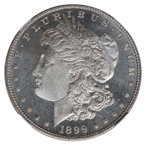 1899 S$1 MS obverse