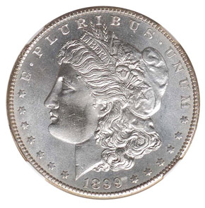 1899 S S$1 MS obverse