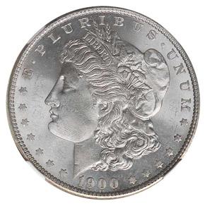 1900 S S$1 MS obverse