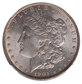 1901 S$1 MS obverse