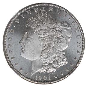 1901 O S$1 MS obverse