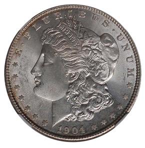 1904 S$1 MS obverse