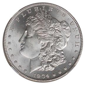 1904 S S$1 MS obverse