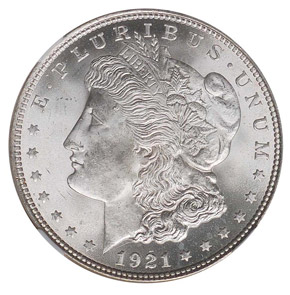 1921 MORGAN S$1 MS obverse