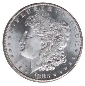 1883 CC S$1 MS obverse