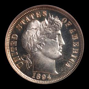 1894 10C PF obverse