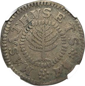 1652 SMALL PINE TREE MASSACHUSETTS 1S MS obverse